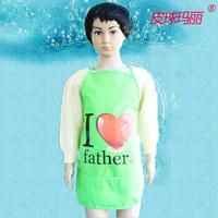 Children waterproof sleeveless apron Waterproof antifouling bib children children painting The children apron