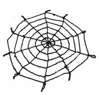 4.9FT Black/White Rope Halloween Large Big Spider Web Webbing Bar Decoration   95697