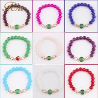 9 Colors Elastic Strand Bracelet 2014 Fashion Summer Collection Elastic Crystal Strand Bracelet Wrap Bracelet #2137