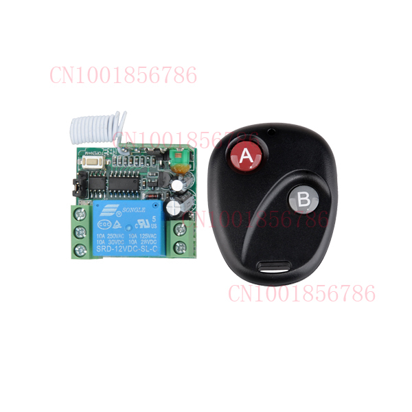 DC 12v 10A 1CH wireless RF Remote Control Switch Transmitter+ Receiver For Access/door Control System(China (Mainland))