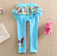 2014 new spring autumn children's clothing wholesale  girls leggings kids Printed cotton trousers 5pcs/lot