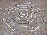 1pcs 4.9FT Black/White Rope Halloween Large Big Spider Web Webbing Bar Decoration 75696-75697