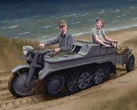 1/35 Sd.Kfz.2 Kettenkrad Early Production w/Infanteriekarren