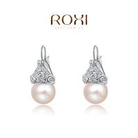 Fashion earrings ROXI Gift Classic Genuine Austrian Crystals Fashion Purple Zircon Drop Earrings Hot Sale For Party
