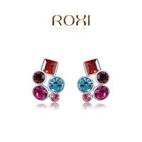 2014 new earrings ROXI GiftHot Sale F Classic Genuine Austrian Crystals Fashion Purple Zircon Drop Earrings or Party