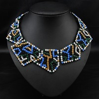 Wholesale  Steampunk Collier Fashion Vintage Jewelry Style Women Costume Rhinestone Colar Choker statement necklace