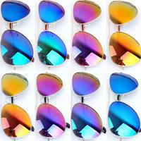 OVO!Hot sale 2014 casual Vintage Women & Men mirror Lenses Sunglasses,aviator UV 400 Protection Optical sunglass