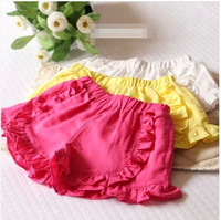 Baby children's clothing Summer new wear black fungus waist shorts kids high waist ruffled shorts kids