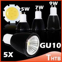 5X GU10 Led COB LAMP 5W 7W 9W bulbs light 60 angle dimmable E27 MR16 E14 MR11 led spotlights spotlight warm cool white 110-240V