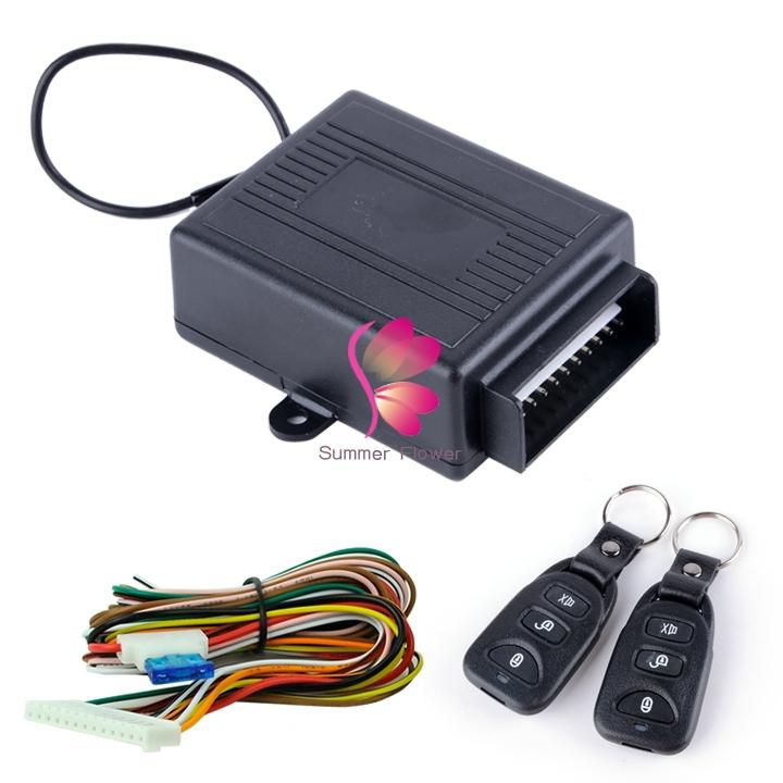 Keyless Entry System Universal Car Kit Remote Control Central Lock Locking Hd23l In Alarm