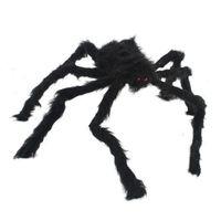 New 120cm Large Black Spider Plush Puppet Toy / Halloween Decor 95705
