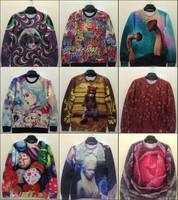 Autumn fashion men/Women coats Animal/Rihanna/mantis mushroom 3D lady gaga Sweatshirt pear girls print Hoodies harajuku sweaters