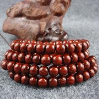 India lobular red sandalwood beads bracelet 108 bead apples material along with high oil grain