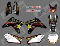0593 stripe NEW style  TEAM DECALS 3M GRAPHICS BACKGROUNDS STICKERS FOR SUZUKI RMZ450 2007 (rock star)