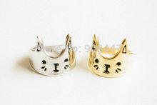 10 PCS-R76 Fashion love cat ring,kitty ring,animal ring -Free shipping