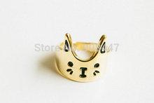 10 PCS R76 Fashion love cat ring kitty ring animal ring Free shipping