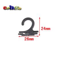 1000pcs Pack 26*24mm Plastic Sock Hook Hanger For Sock Stocking Underwear Accessories Packaging #FLC231B-B