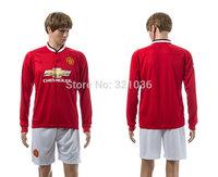 High  Quality    Mata   Rooney   Long Sleeve   2015    Soccer Jerseys      Football  Kit  Free Shipping
