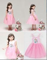 NEW Retail 2014 Girl Hot Princess Dresses Brand Girls Frozen Princess  Dress Summer tutu kids dress For Children  Clothing