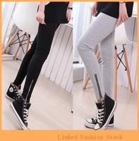 High elastic autumn lady large color code zip fashion nine minutes of PANTS LEGGINGS pencil pants pants