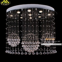 Factory direct simple fashion oval K9 crystal lighting crystal ceiling bedroom with 0454 Restaurant Low