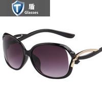 2014 fashion new ladies retro sunglasses gradient UV can be equipped with myopia oculos de sol feminino
