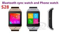 Smart Watch Phone S28 1.54'' MTK6260 Wireless Bluetooth Sync / SIM /TF Pedometer Smartwatch Wristwatch For Samsung Android Phone