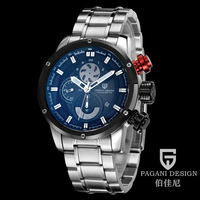Pagani Design brand Fashion personality multifunctional military men quartz watch Stainless steel strap sports diving watches