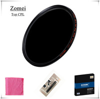 Free Shipping Top UHD Zomei 52mm CPL Filter Germany Polarizer Lens Filtro 18 Layer Coating Water Oil Soil for Canon Sony Camera