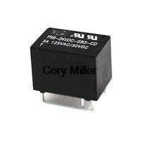 Black Housing 24V DC SPDT PCB Board Electronic Power Relay 6 Pins