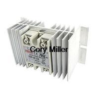 DC to AC Solid State Relay SSR-60DA 60A 3-32V 24-380V + Aluminum Heat Sink