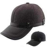 Hot-selling 2015 Fashion Men's Baseball Cap, Sports Cap, Warm Hats For Autumn - Winter Casual Caps Big Size Free Shipping