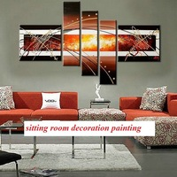 Free Shipping Handpainted  Wall Paintings Home Decorative Modern Abstract Art Paintings for Sale DM-918005