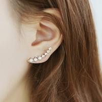 Korean fashion style new arrival women's quality elegant pearl earring clip brand newest design earring clip ear cuff  wholesale