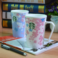 Starbucks wind creative ceramic cup lovers cup