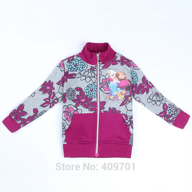 Frozen Coat Girls Outer wear Baby Girl Jacket and Coat Children Frozen Coat for Girl Wear Long sleeves Cotton NOVA F531