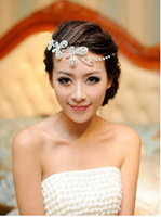 Wholesales Bridal Wedding Hair Accessories Rhinestones Jewelry Butterfly Forehead Piece Decoration For Bride Wedding Occasion
