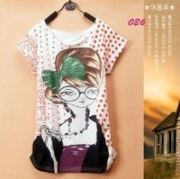 2014 Fashion Women type Printed  T-shirts For Mickcy Mokey O-Neck Short Sleeve Quicker Shipping  W4393