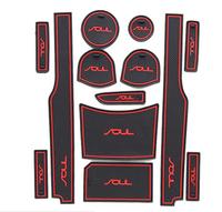 Free Shipping Gate slot mat 2013 Kia Soul cup mat  non-slip mats13pcs/set
