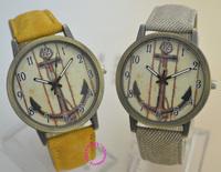 Promotion! hot cute new women man lady girl dress anchor watch with arrow cartoon pattern Fashion Electronic 2014 new clock hour