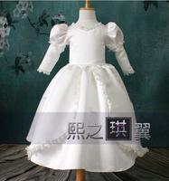 18 2014 long sleeve princess flower girl dresses for weddings girls pageant dresses prom dress children vestido de daminha