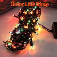 4.5M 100 LED colorful light strap decoration LED string for Christmas tree decoration party wedding Fairy Light 220V Eu plug