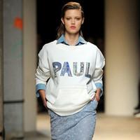 European Brand Letter Print Loose Hoodies Women Long Sleeve Kangaroo Pocket Sweatshirts lulu tracksuit sudaderas rihanna