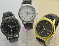 wholesale price good quality top fashion man women unisex black gold silver roman number quartz watch wristwatch hour watches