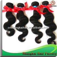 Mixed Length 10''-26'' 4/5pcs/lot  Peruvian human hair extension 50g/pcs virgin hair body wave natural color can be dyed
