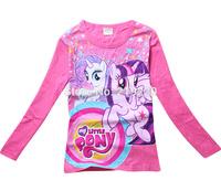 Girls My Little Pony Long T Shirt 3Y-9Y New 2014 Long Sleeve cotton T Shirt Tops Children Cartoon Clothing Girls Sweatshirts