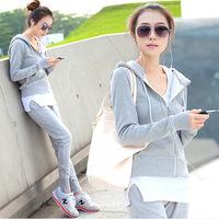 2014 autumn sweater three pcs/set  women's sports leisure suit trousers,sport suit women,sports suit,M-XXL