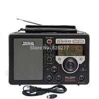 "Tecsun BCL-3000 3.3"" Full Band Stereo FM Am Radio Receiver w/ High Sensitivity Desktop Time Switch 3000"