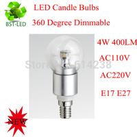 10x Dimmable 4W 400lm  LED candle bulb E17 E27   LED candle bulb Good quality