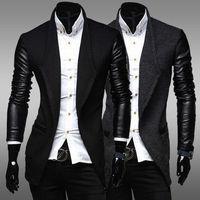 New Fashion Trench Coat Men Long Coat Men Stitching Casual Manteau Homme Coat Men Overcoat